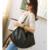 Gran Pequeño Mujeres Hobo Bolso de Cuero Grande de La Manera Ocasional negro Femme Sac A Principal Marca De Ocio Bolsas de la Compra Bolsa