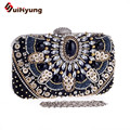 Female Vintage Beading Clutch Bags Shine Diamond Sequins Patchwork Party Evening Bags Wedding Women Day Clutch Ladies Handbags