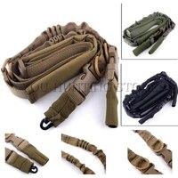 Tático 2 Pontos Rifle Funda Acolchoada Ajustável Heavy Duty Quick Detach Discrição Bungee Gun Sling Strap Sistema de Cinto