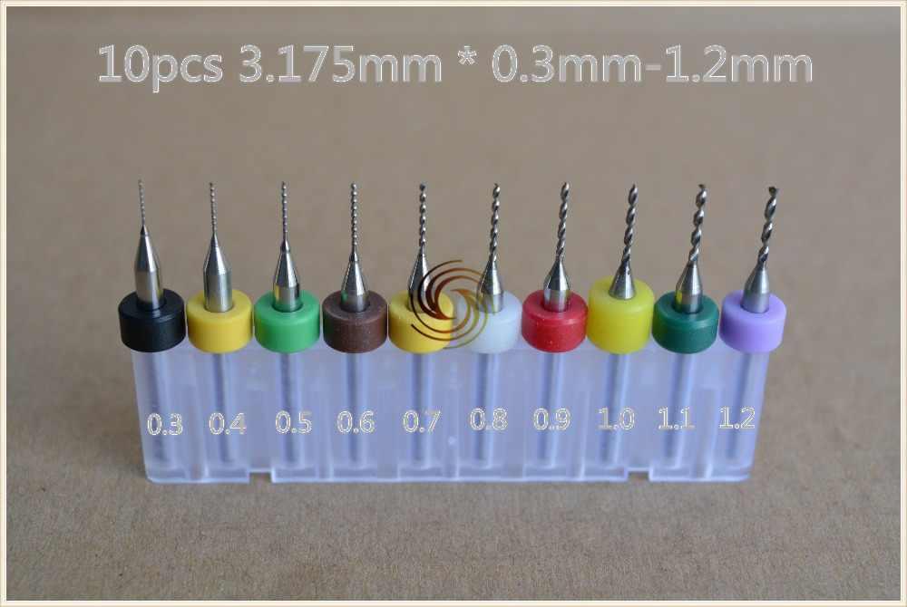 Mini foret de carte PCB de la tige 3.175mm découpant le carbure pour le moule de CNC de SMT cuivre gravent le plastique 10 pièces
