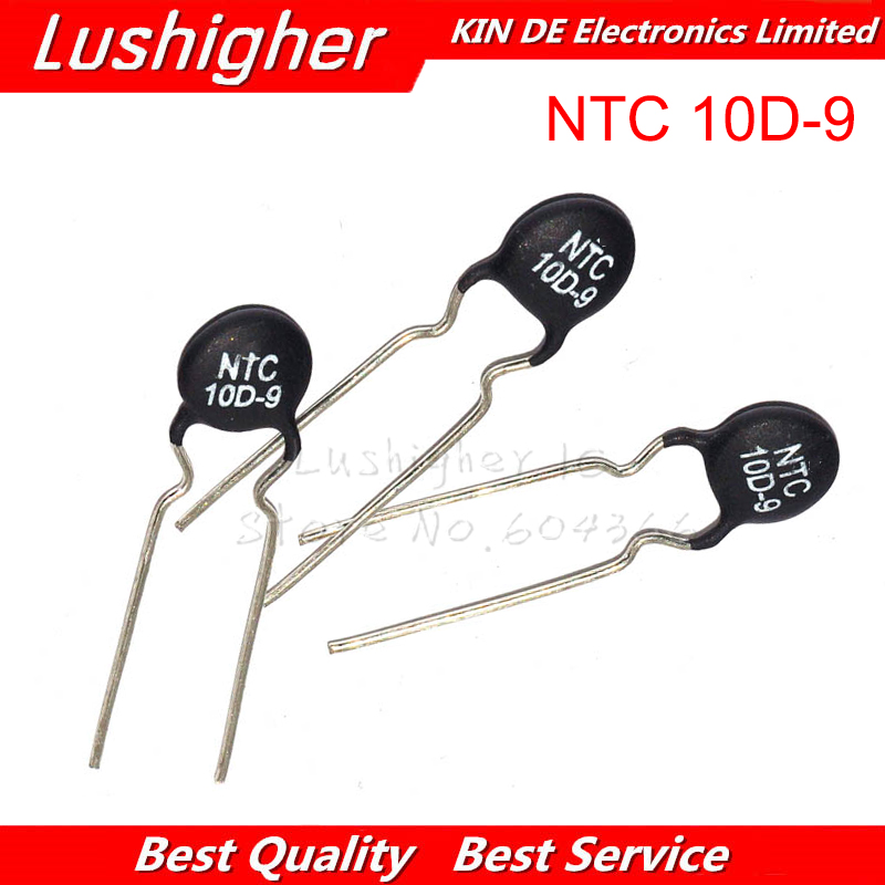 20pcs NTC Thermistor Resistor NTC 10D-9 Thermal Resistor
