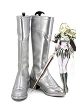 Claymore Teresa Cosplay Boots Silver Shoes Custom Made Any Size