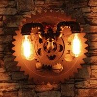 Vintage industry steam punk lamp loft wall lamp restaurant bar club porch corridor cafe light sconce water pipe edison E27