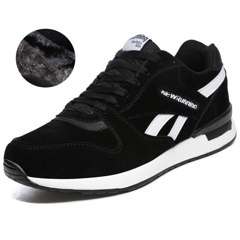 2018 Autumn Winter Men Women Sneakers Black Gray Unisex Running Shoes With Fur Warm Sport Sneakers for Men Women Jogging Shoes