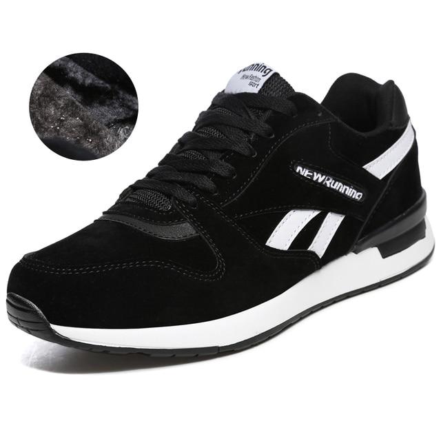 2018 осень зима для мужчин женщин спортивная обувь черный, серый цвет унисекс кроссовки для бега с Мех животных теплые спортивные для мужчин