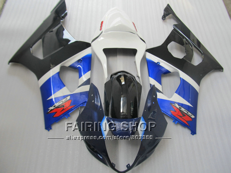 Injection mold high quality fairings for Suzuki GSXR1000 03 04 K3 K4 black white blue fairing kit GSXR 1000 2003 2004 WT31 100% fit for suzuki injection molding gsxr1000 fairing kit k3 k4 2003 2004 brown black fairings set gsxr 1000 03 04 ap34