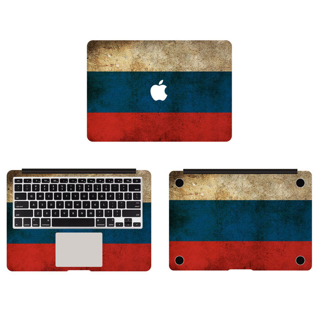 Retro flag of russia vinyl full body decal laptop skin stickers for apple macbook air pro