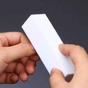 10 шт. полировка шлифовальных файлов блок Педикюр Маникюр Уход за ногтями буферный лак белый пилка для ногтей маникюр педикюр