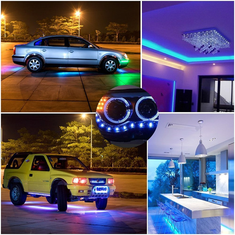 Image 5 - DC12V 5050 LED Strip Waterproof RGB RGBW Led Light Flexible Tape+Touch Remote Controller +12V Power adapter Kit 30M 20M 10M 5Mled strip waterproof rgb5050 led strip waterproof5050 led strip -