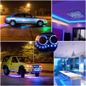Image 5 - DC12V 5050 LED Strip Waterproof RGB RGBW Led Light Flexible Tape+Touch Remote Controller +12V Power adapter Kit 30M 20M 10M 5M