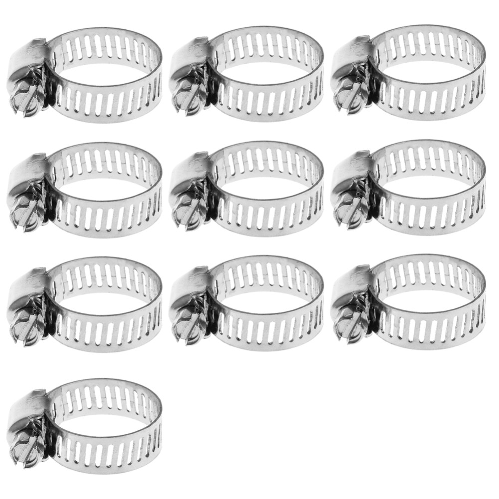 10Pc Stainless Steel Adjustable Drive Hose Clamp Fuel Line