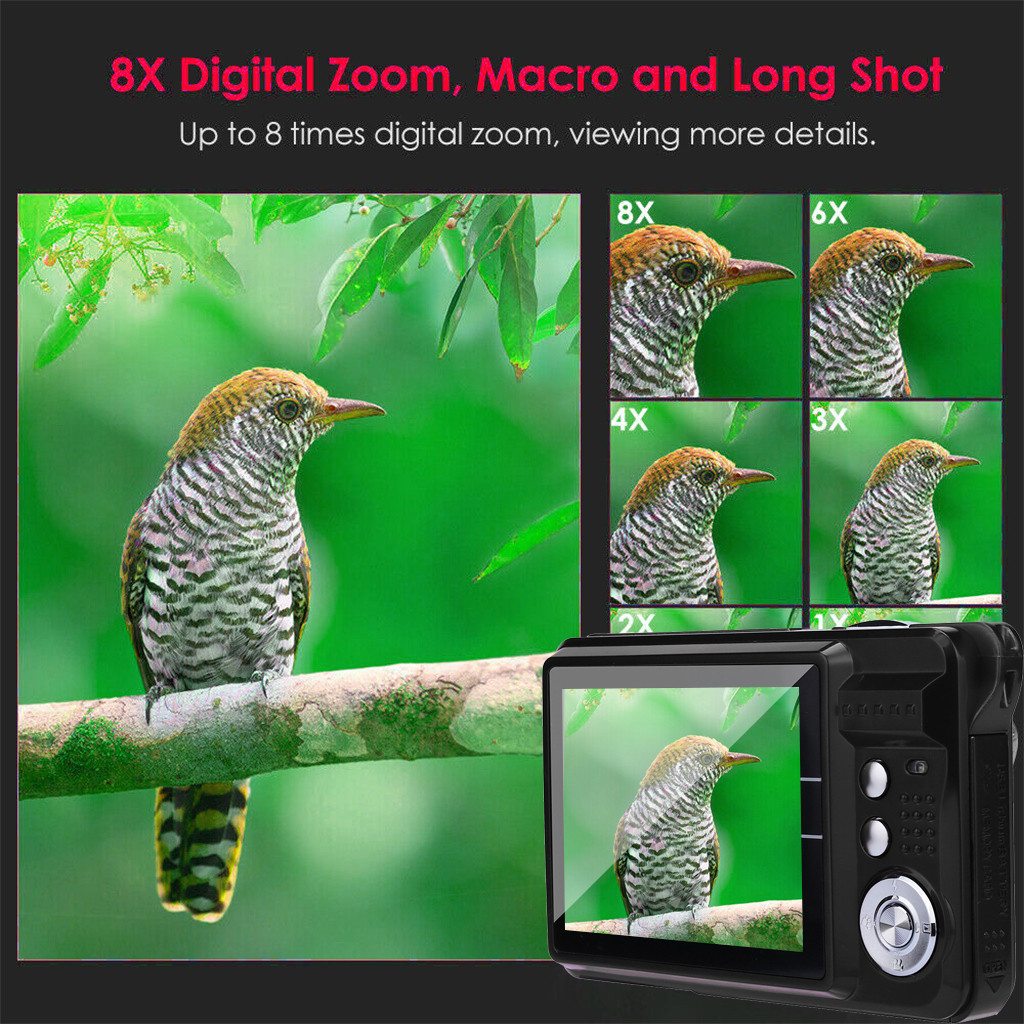 HTB1AsAyOhnaK1RjSZFBq6AW7VXaZ 2019 2.7HD Screen Digital Camera 21MP Anti-Shake Face Detection Camcorder Black white   28#