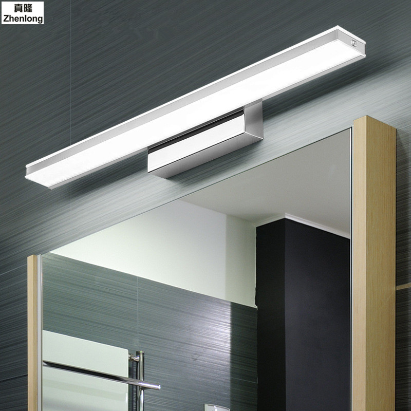 Waterproof Anti-fog Wall Lamps Bathroom Led Mirror Light Waterproof 12W AC85-265V Modern Acrylic Wall Lamp Bathroom Lighting modern acryl aluminum 4 heads led 12w mirror lamps for bathroom aisle 65cm waterproof ip65 anti fog indoor wall lamps 1184
