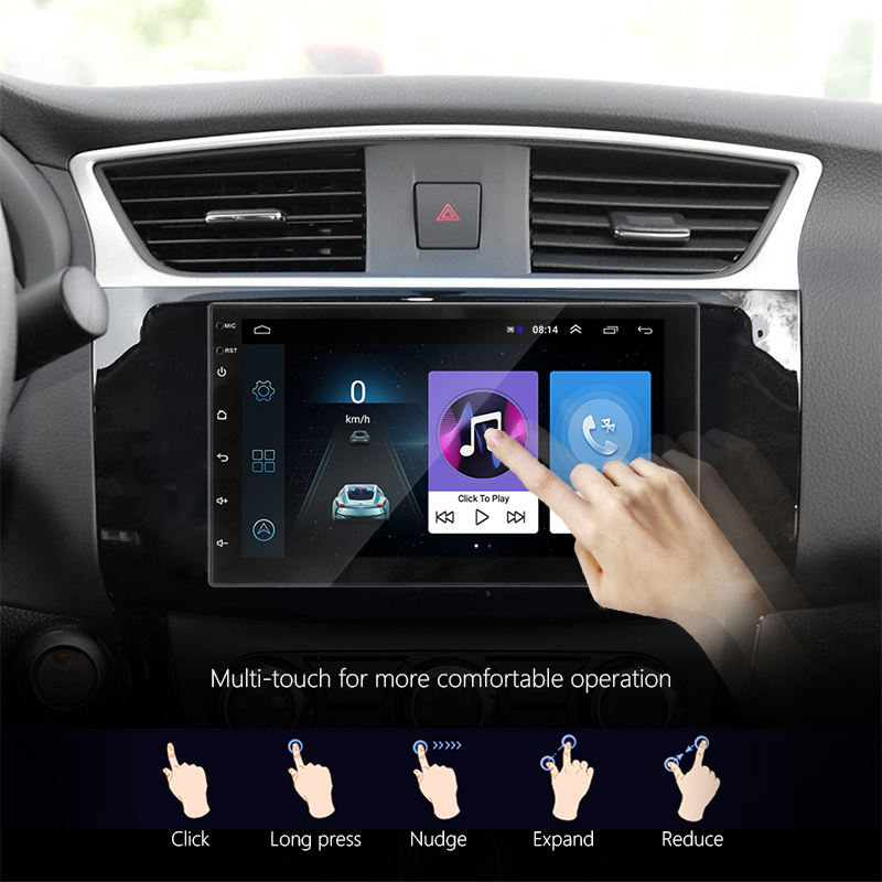Image 3 - Vtopek car radio Android 7'' HD Car Multimedia player Touch Screen GPS Navigation Bluetooth Mirror link FM 1024*600 Rear View-in Car Radios from Automobiles & Motorcycles