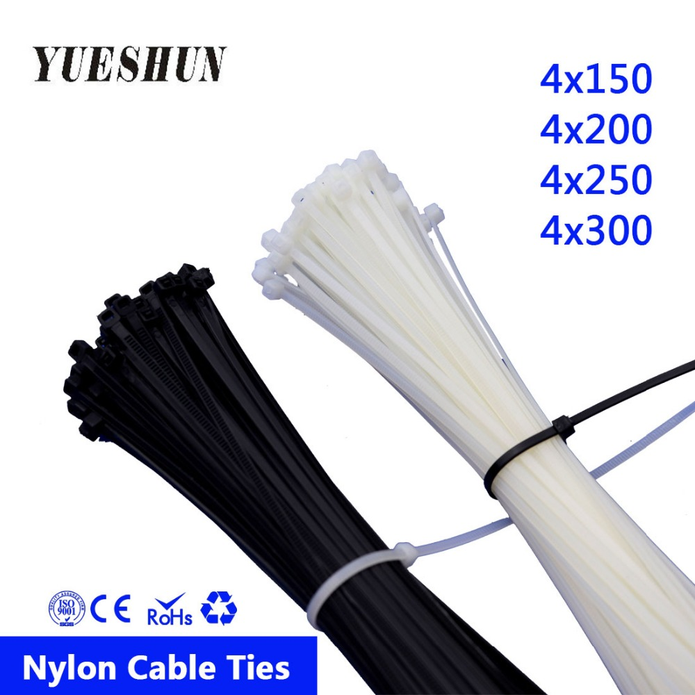 Black Cable Ties 200mm x 2.5mm Nylon TIE Wraps Cable Tidy 100PC Pack