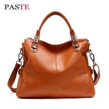 2017 New genuine cow leather female handbags soft laptop messenger bag luxury designer tote high quality shoulder bags for women