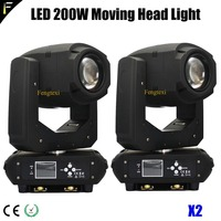 LED 200w 7Color Mixing Mobile Head Beam Light Wash 5R LED 200 Sharpy Beam Moving Lighting Bundle 2PCS/LOT for Artists Clubs Bars