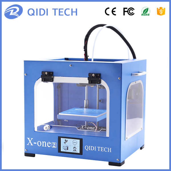 QIDI TECH Single extruder 3d printer New Model: X-one2,Fully Metal Structure,3.5 Inch Touchscreen flsun 3d printer big pulley kossel 3d printer with one roll filament sd card fast shipping