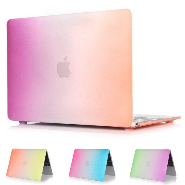Трудный Случай Протектор С Радуга Стиль Для MacBook 12 дюйм Воздуха 11 13 дюймов Pro 13 15 дюймов Pro retina 13 15 дюймовый