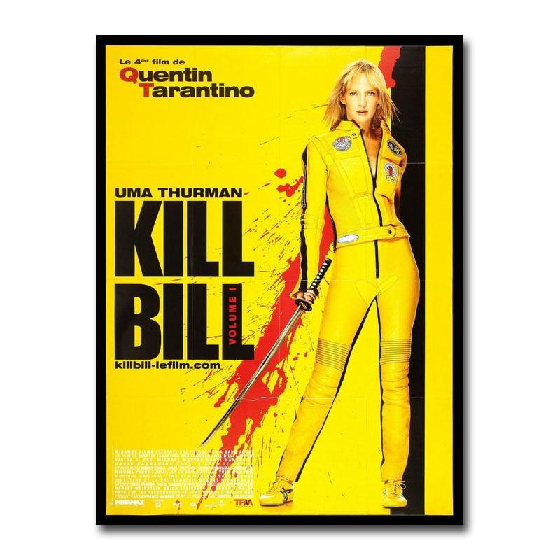 Póster de lienzo de película clásica de Kill Bill, pintura impresa de arte para pared 20x30 60x90cm, papel tapiz, cuadro decorativo de pared para sala de estar