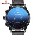 LONGBO Marca de Lujo Militar Reloj de Los Deportes de Los Hombres Reloj de Cuero Análogo de Cuarzo dial Grande Hombre de Cristal de zafiro Reloj Relogios