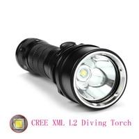 Aluminum Diving Flashlight Waterproof 3000 Lumen CREE XM L2 LED Diving Torch Submarine Flashlights Light Battery