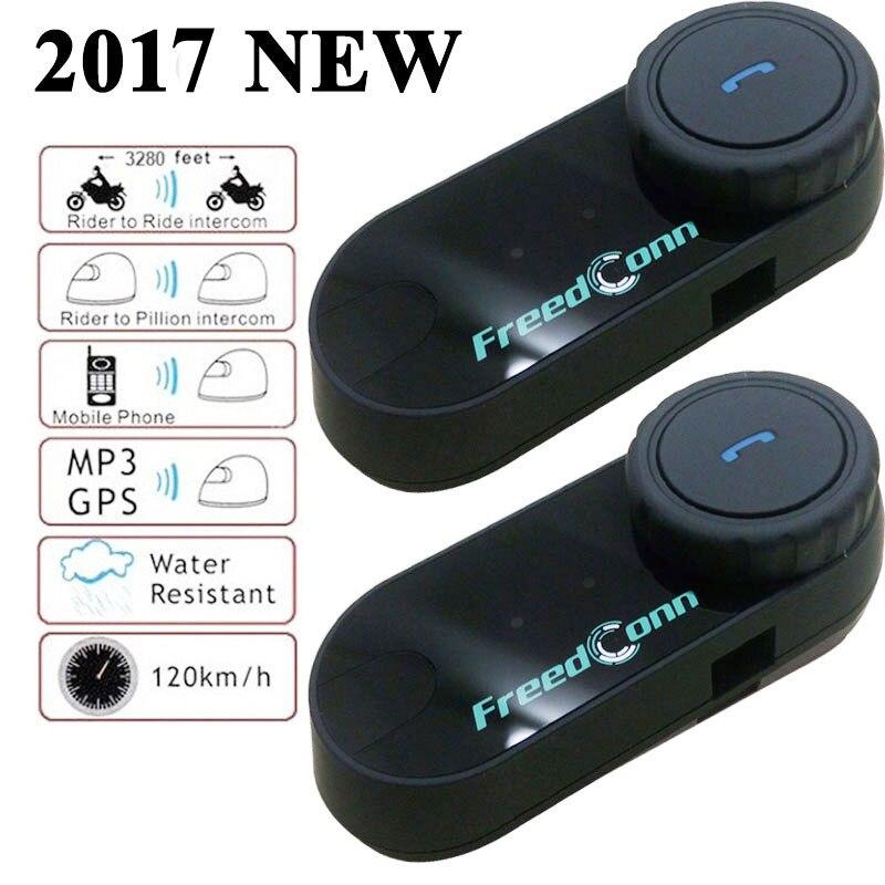 Prix pour 2017 Nouveau bt interphone bluetooth casque de moto interphone Casque de Moto Intercom moto talkie walkie Avec FM Radio