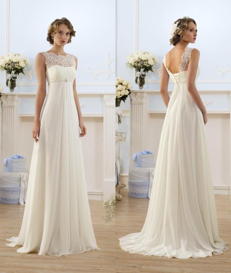 Lace Chiffon 100 Real Photos Built Bra Pleat Empire Waist Maternity Bridal Evening Party Gowns