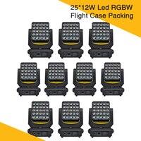 (10 шт./лот) твердый контейнер Magic Quad 25*12 W RGBW матрица свет с отдельными светодиодными Управление стирка эффект