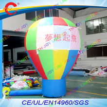 free air shipping,10ft/3m  large outdoor inflatable ground  air balloon,advertising inflatable roof top event show balloon