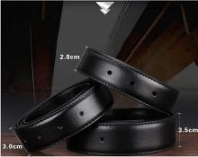 Free shipping 2015 Ultra-thin strap hole-digging genuine leather male belt