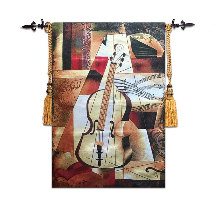 58*90 cm haute qualité belgique Art violon tenture murale tapisserie marocaine decorpeinture tissu maison mur tapis tissu wandkleed