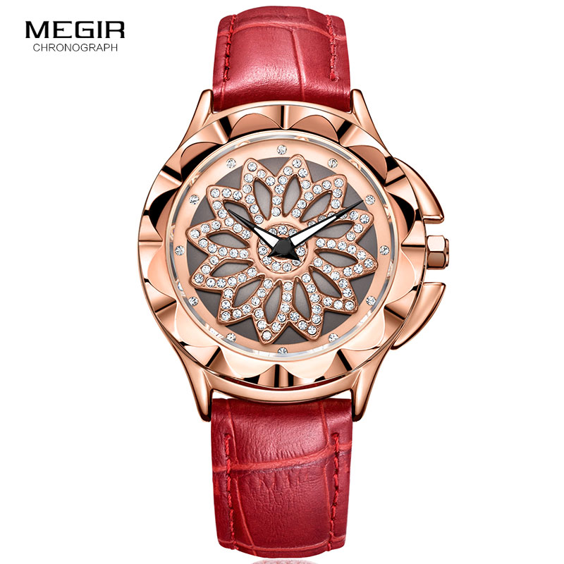 MEGIR Fashion Women Bracelet Watches Top Brand Luxury Ladies Quartz Watch Clock for Lovers Relogio Feminino Wristwatches ML2059L zivok fashion brand women watches luxury red lovers bracelet wrist watch clock women relogio feminino ladies quartz wristwatch