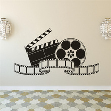Home Cinema Roon Wall Sticker Film Movie Room Decoration PlayVinyl Decal projector Poster AZ150
