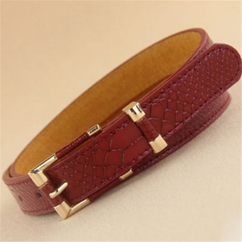 2017 new Beautifully Ms. snakeskin pattern belt, can be used as gifts free