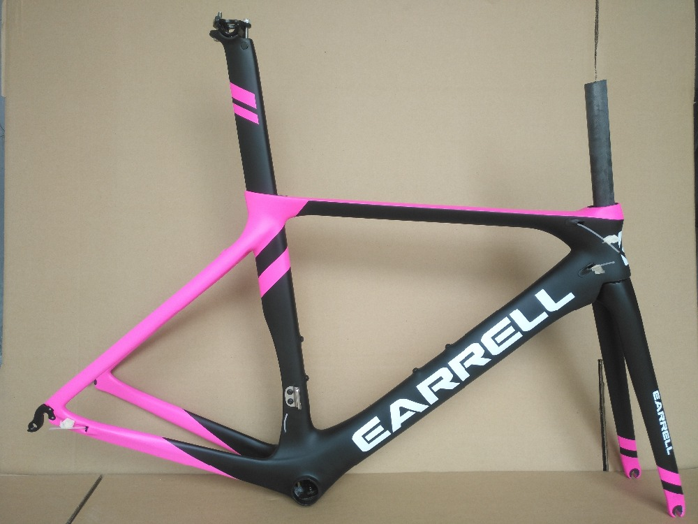 EARRELL Carbon Fiber Frame Road Bicycle Bike Cycling Frame Carbon Matte Glossy Cycle Frame 50/53/56CM