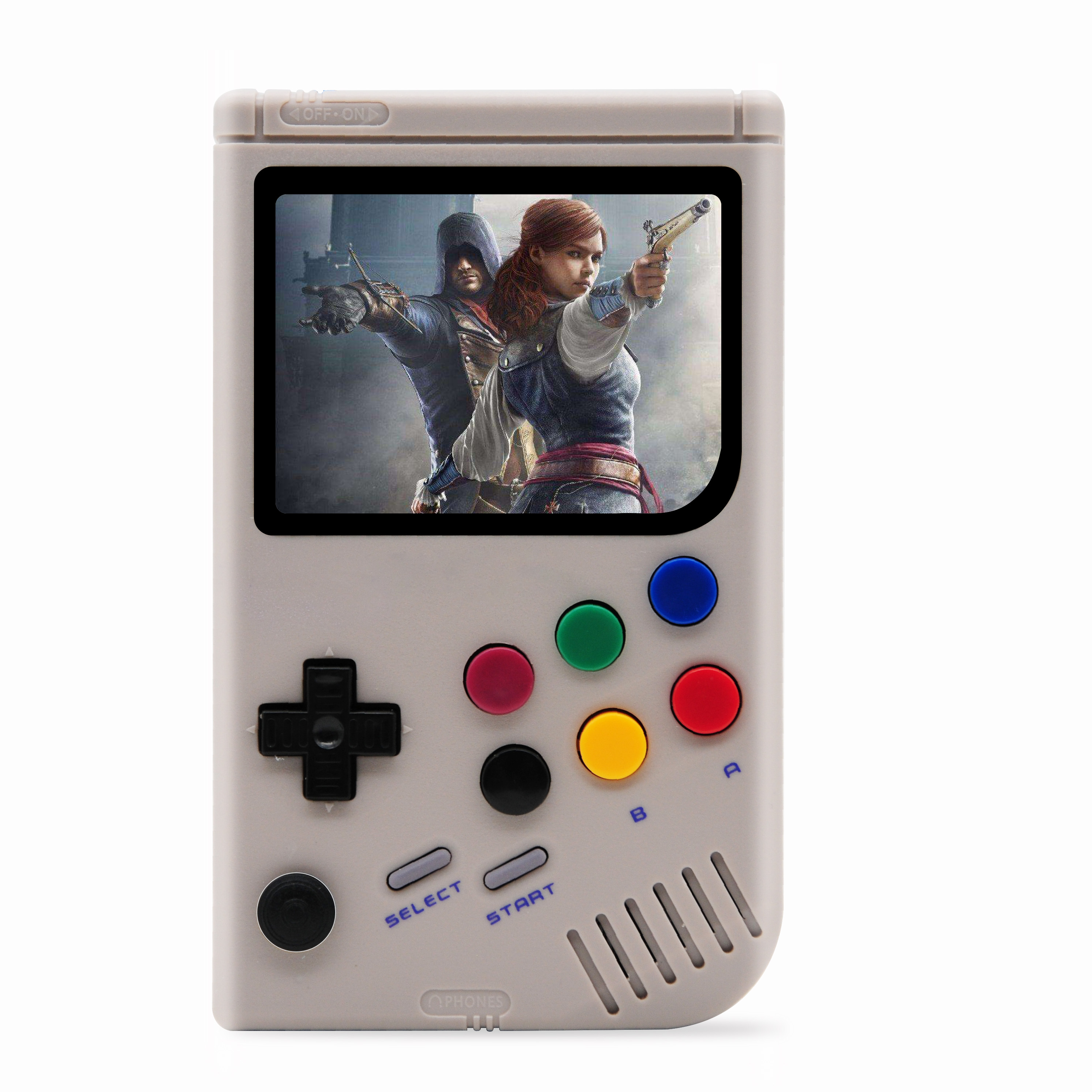 Dikdoc LCL Pi Retro Video Game Console Player Raspberry Pi 3B Handheld Game with 3.5 Inch IPS Screen Built in 10000 Games-in Handheld Game Players from Consumer Electronics    2