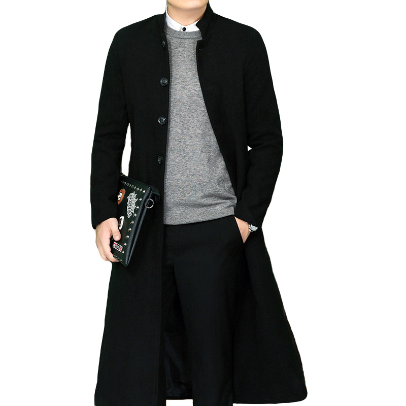 new arrival fashion Men padded Overcoat Long Overlength Knee high quality Casual X-long Single Breasted Thick Men size M-4XL(China)
