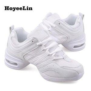 Image 4 - HoYeeLin Mesh caz ayakkabı kadın bayanlar Modern yumuşak taban dans Sneakers nefes hafif dans spor ayakkabı