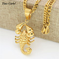 Tino Carlo Hot Selling Delicacy Men's Hiphop  Animal Necklace 316Steel Scorpion King Scorpio Zodiac Signs Women Gold Necklace