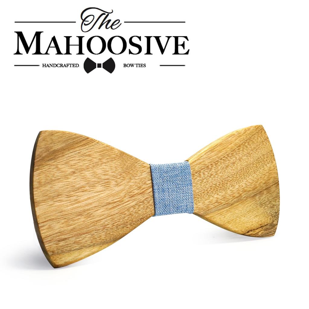 MAHOOSIVE Classic 100% -os szennyezett fa nyakkendők Új dizájn nyak nyakkendők férfiaknak hivatalos üzleti esküvői fél Gravatas