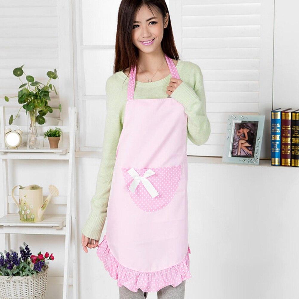 White ruffle apron australia - Korean Woman Kitchen Apron Ruffled Waitress Nail Salon Work Avental De Cozinha Divertido Tablier Cuisine Pinafore