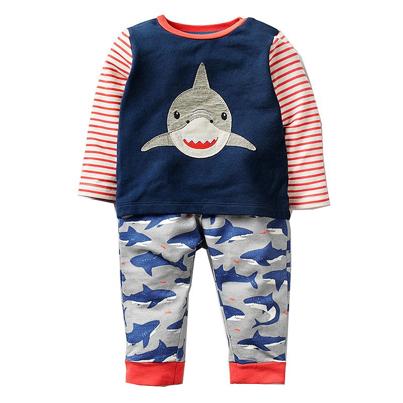 Baby Boy Clothes Toddler Outfits Boys Clothing Sets Children Long Sleeve Animal Applique Tops+Pants Kids Tracksuits Boy Set baby boys girls clothes set autumn winter warm outfits deer tops hoodie tops pants cute animals kids baby boy clothing sets