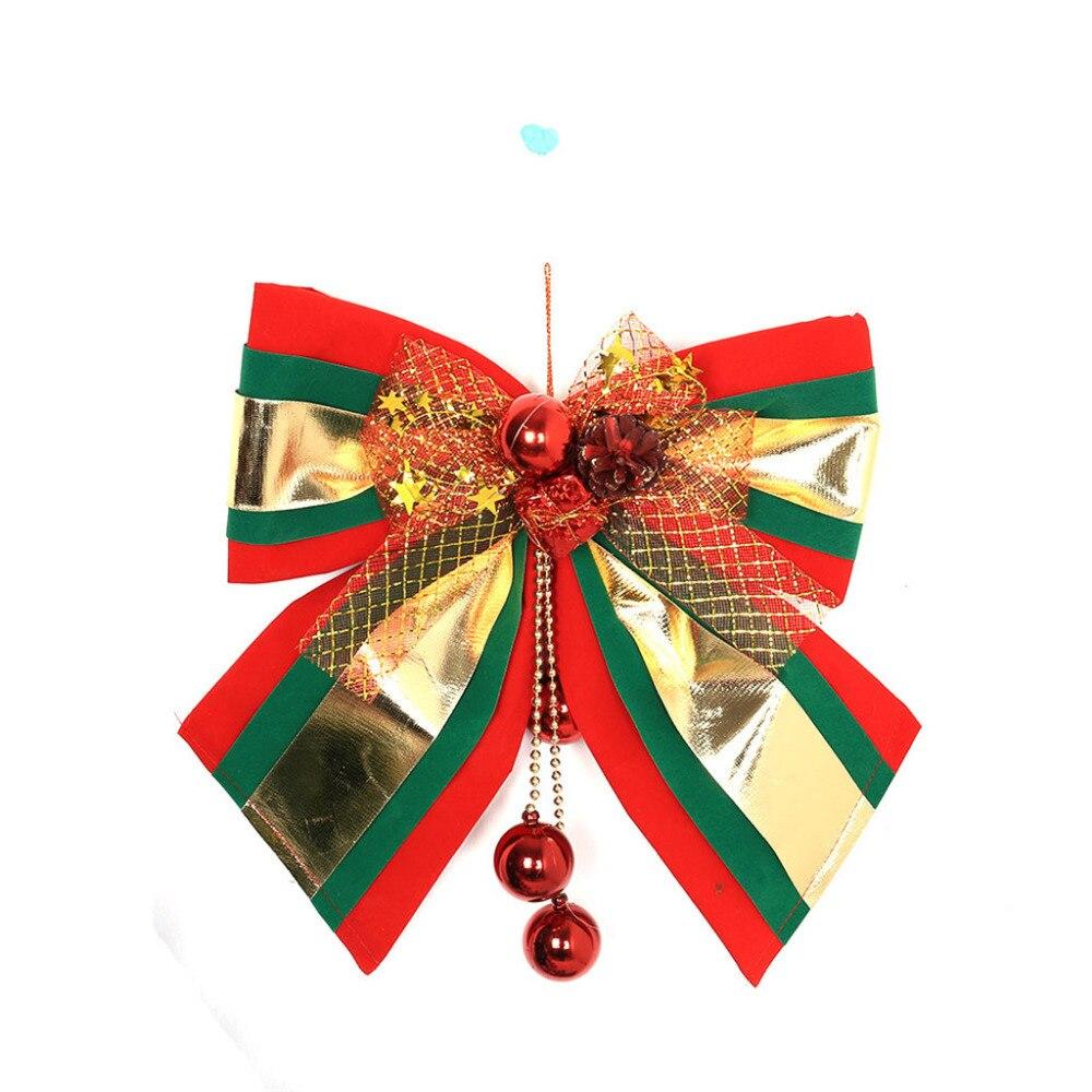 Christmas Tree Ornaments Bow Decoration Ribbon For Xmas Holiday Party Decor US