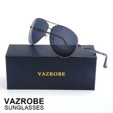 Vazrobe (153mm-160mm) XXL Oversized Aviation Polarized Sunglasses Men Large Face Driving Sun Glasses for Men's Goggles Wide Man