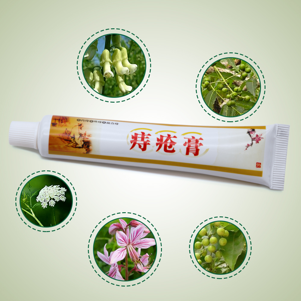 Chinese Medicine 1pcs Hemorrhoids Ointment 100% Original Vietnam Chinese Cream Painkiller Pain Relief External Anal Fissure Medical Plaster P1020