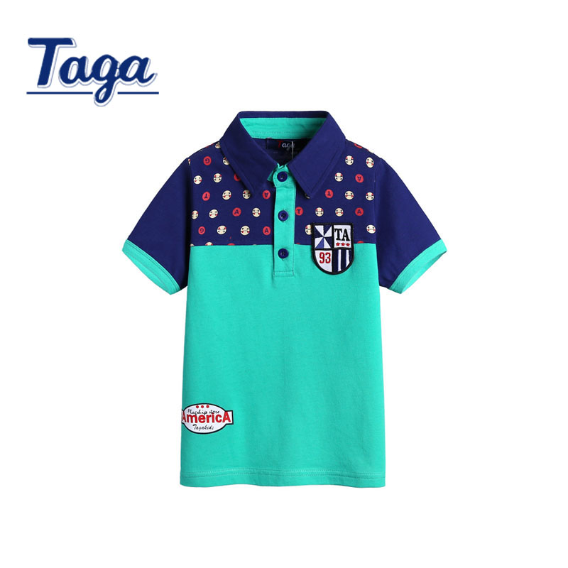 TAGA 2016 Fashion Summer POLO Shirt Short sleeves Kids Tops Sports Suit Children Clothing Free Shipping