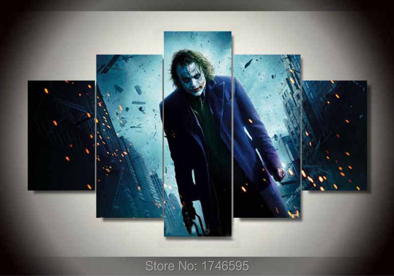 Home Decor Living Room Kids Decor Batman Movie Characters Wall Art Picture Printed Oil Painting On