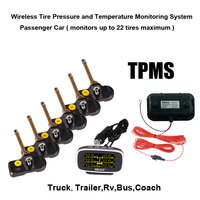 Wireless Tire Pressure And Temperature Monitoring System Monitors Up To 22 Tires Maximum For Truck