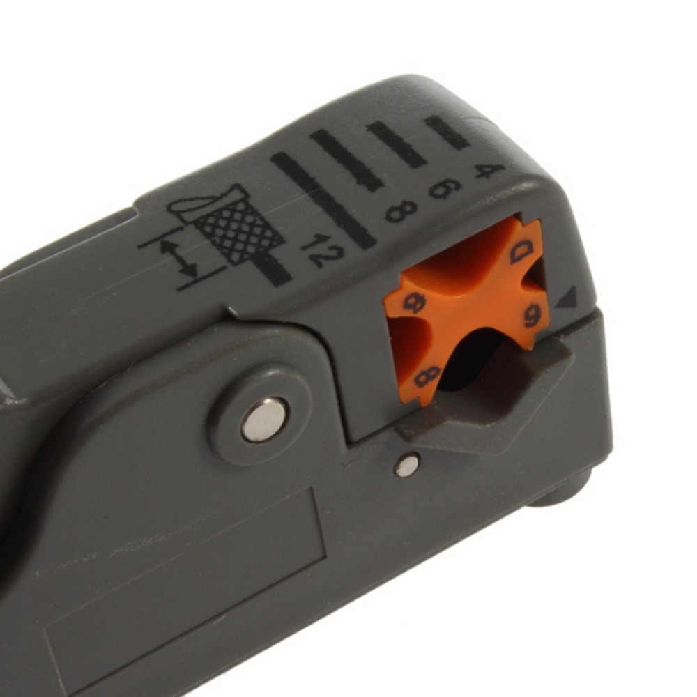 2017 Nova Rotary Coax Coaxial Cable Ferramenta de Corte da Ferramenta do Agregado Familiar Multifuncional RG58 RG59 RG6 Descascador de Fios de Material De Alto Impacto